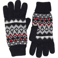 Kangaroo Poo Mens Fairisle Gloves Navy/Multi
