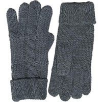 Kangaroo Poo Mens Knitted Gloves Mid Grey Marl