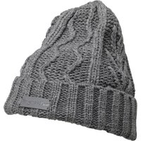 Kangaroo Poo Mens Cable Beanie Hat Mid Grey Marl