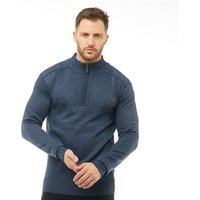 Onfire Mens Zip Neck Sweater Blue