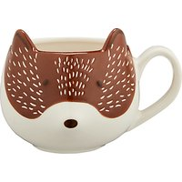 John Lewis & Partners Fox Mug, 350ml, Brown