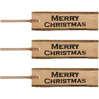 East of India Merry Christmas Long Tag, Pack of 3