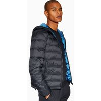 Mens Navy Hooded Liner Jacket, Navy