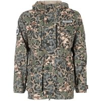 Converse  CONVERSE PRINTED COTTON UTILITY JACKET  men's Jacket in Green