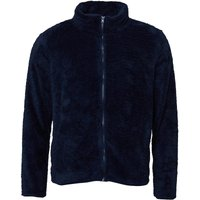 Fluid Mens Zip Through Borg Fleece Navy