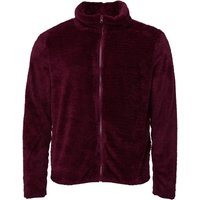 Fluid Mens Zip Through Borg Fleece Wine