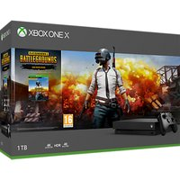 Microsoft Xbox One X Console, 1TB, with Wireless Controller, Black and PlayerUnknown's Battlegrounds