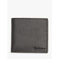 Barbour Grain Leather Coin Wallet, Black