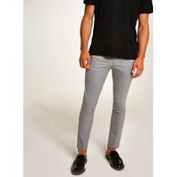 Mens Mid Grey Grey Cropped Smart Trousers, Mid Grey