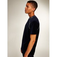 Mens Navy Velour T-Shirt, Navy