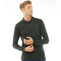 French Connection Mens Jersey Long Sleeve Polo Dark Green