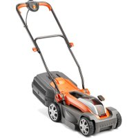 FLYMO Mighti-Mo Cordless Rotary Lawn Mower - Orange & Grey, Orange