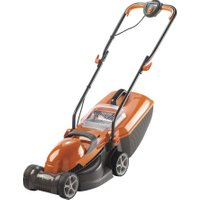 FLYMO Chevron 32VC Rotary Lawn Mower - Orange & Grey, Orange