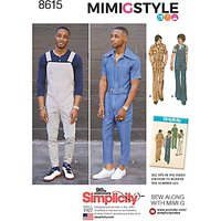Simplicity Mimi G Style Men's Vintage Jumpsuit and Overalls Sewing Pattern, 8615