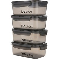 Joe Wicks Lunch Box Containers, Set of 4, 920ml, Grey