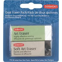 Derwent Soft Art Erasers, Set of 2