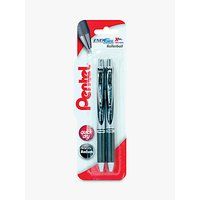 Pentel XBL77/2-A EnerGel Twin Pen Set, Black