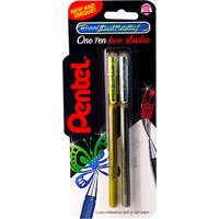 Pentel XK110/2 Dual Metallic Gel Pen, Set of 2