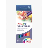 Pentel CBB-12U Colouring Pencils, 12 Piece Set