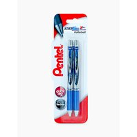 Pentel XBL77/2-C EnerGel Twin Pen Set, Blue