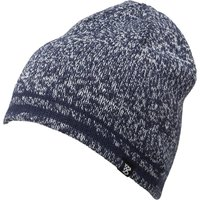Kangaroo Poo Mens Twist Yarn Beanie Hat Navy/White