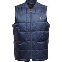 Lyle And Scott Vintage Mens Quilted Gilet Navy Jacket