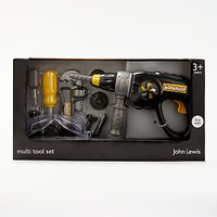 John Lewis & Partners Toy Multi Tool Drill Set