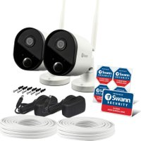 SWANN WiFi Smart 1080p Full HD Outdoor Security Cameras - Pack of 2