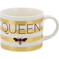 John Lewis & Partners Queen Bee Striped Mug, Gold, 350ml