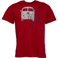 Kangaroo Poo Mens Double Camper Van T-Shirt Chilli Red