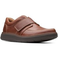 Clarks  Un Abode Strap Mens Casual Wide Fitting Leather Shoes  men's Loafers / Casual Shoes in Brown