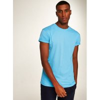 Mens Sky Blue Roller Skinny Fit T-Shirt, Blue