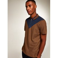 Mens Brown Chevron Polo, Brown
