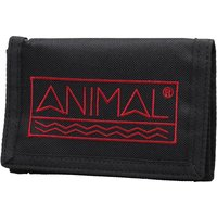 Animal Mens Sidetrack Polyester 3 Leaf Wallet Black
