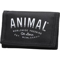 Animal Mens Ambush Polyester 3 Leaf Wallet Black