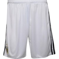 adidas Mens AFA Argentina Home Shorts White/Black/Clear Blue