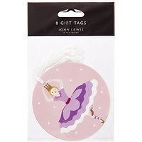 John Lewis & Partners Rainbow Sugar Plum Fairy Gift Tags, Pack of 8