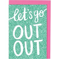 Raspberry Blossom Let's Go Out Card