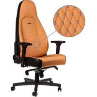 NOBLECHAIRS ICON Leather Gaming Chair - Cognac, Cognac