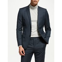 Kin Micro Grid Semi Plain Slim Fit Suit Jacket, Teal