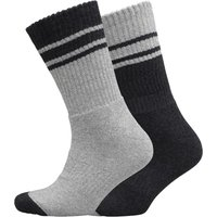 Trespass Mens Hitched Anti Blister Two Pack Boot Socks Black Marl/Grey Marl