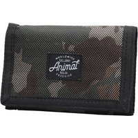 Animal Mens Exploited Polyester 3 Leaf Wallet Camo Green