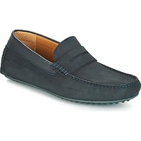Hackett  DRIVER LOAFFER NUBUCK  men's Loafers / Casual Shoes in Black