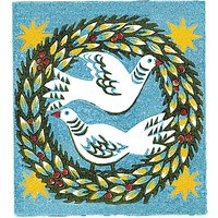 Woodmansterne Wreath and Doves Charity Christmas Cards, Pack of 5
