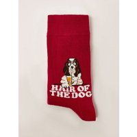 Mens Red 'Hair Of The Dog' Socks, Red