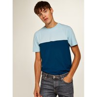 Mens Blue Panel Classic Fit T-Shirt, Blue