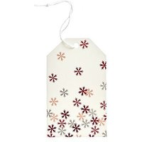 Boots Red Mini Snowflakes Tag
