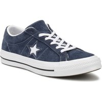 Converse  One Star Navy Premium Suede Ox Trainers  men's Shoes (Trainers) in Blue