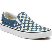 Vans  Corsair / True White Checkerboard Classic Slip On Trainers  men's Slip-ons (Shoes) in Blue