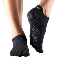 Mad ToeSox Full Toe Low Rise Grip Socks, Black